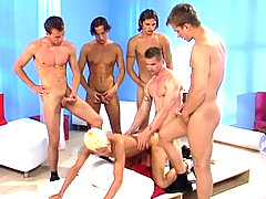 Big orgy with hot studs enjoying intense anal intercourse
