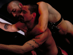 Justin Southhall works over Scott Samson in a down-n-nasty S&M scenario worthy of de Sade himself. Scott, in bondage among two pillars, moans like a good pliant submissive as he is spanked, whipped, spit-on and erotically tortured in any number of cre daddy gay movies