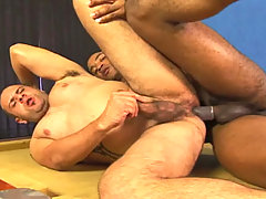 Big guys in interracial hardcore anal action in these ones