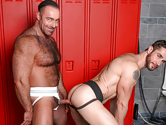 Dean & Brad pull their weenies from their jocks at the lockers daddy gay movies