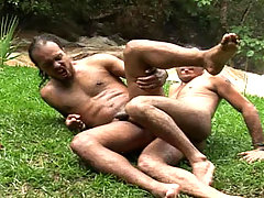 Handsome studs enjoys some hard anal sex in the woods ! daddy gay movies