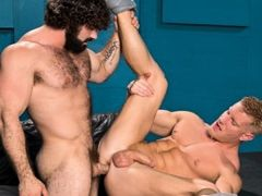 Johnny V is a blond musclebound bottom hunk who can't wait to get fucked. Jaxton Wheeler is a hairy mountain of a man with a thick cock that make daddy gay movies