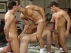 Super hot and hungry orgy going on at the men Poker night! daddy gay movies