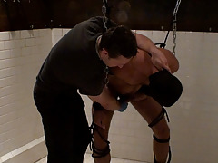 Puppy begins by tieing the slave to two points of chain from the moist room ceiling, then claws up the slave's body. Puppy then uses various impact implements on the slave's ass earlier than jerking and torturing the slave's cock and balls with his hands daddy gay movies