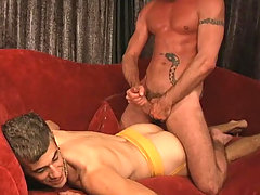 Two studs enjoying some nice blowjob and anal action