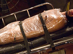 Mummification: (mum'i-fi-ca'tion) n. Make or become a mummy. Contrasting standard mummificaion which uses seran wrap and duct tape we have chosen palet wrap 'cuz it is stronger than seran and as u sweat and give off body heat the wrap instigates to fuse daddy gay movies