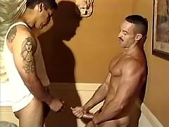 Handsome gays practise anal skills daddy gay movies