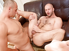 Cock-hungry hairy bully David slobbers over Enzo's veiny rod daddy gay movies